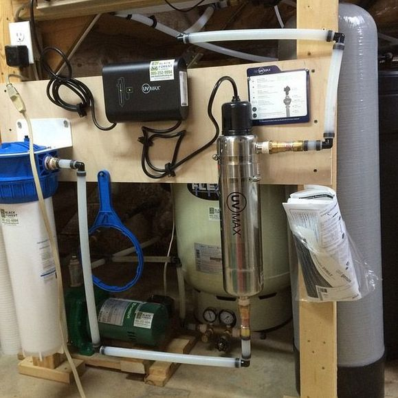 installed water purification system